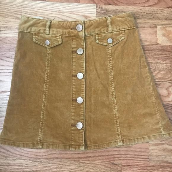 332123cd7 BDG Skirts | Mustard Yellow Corduroy Skirt | Poshmark